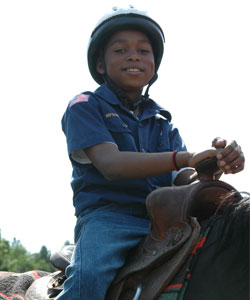 Cub Scout Horseback Riding